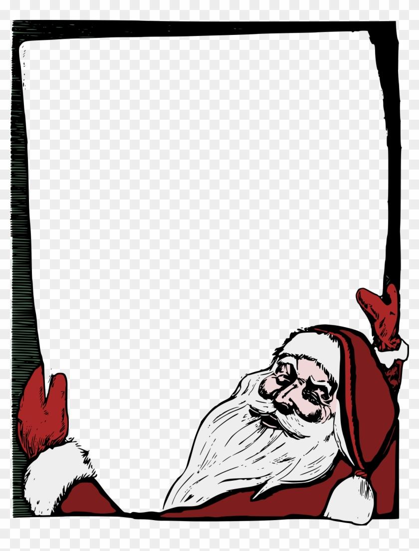 Big Image - Christmas Frame Png Santa #147783