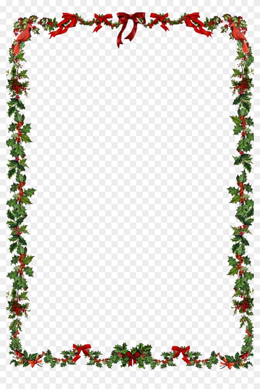 Christmas Frame Png Clipart - Word Document Christmas Border #147787