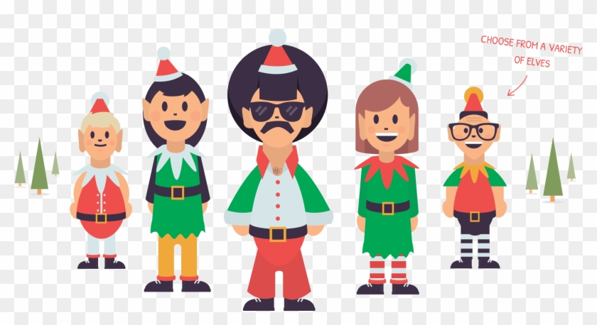 Choose From A Collection Of Santas Elves - Portable Network Graphics #147877