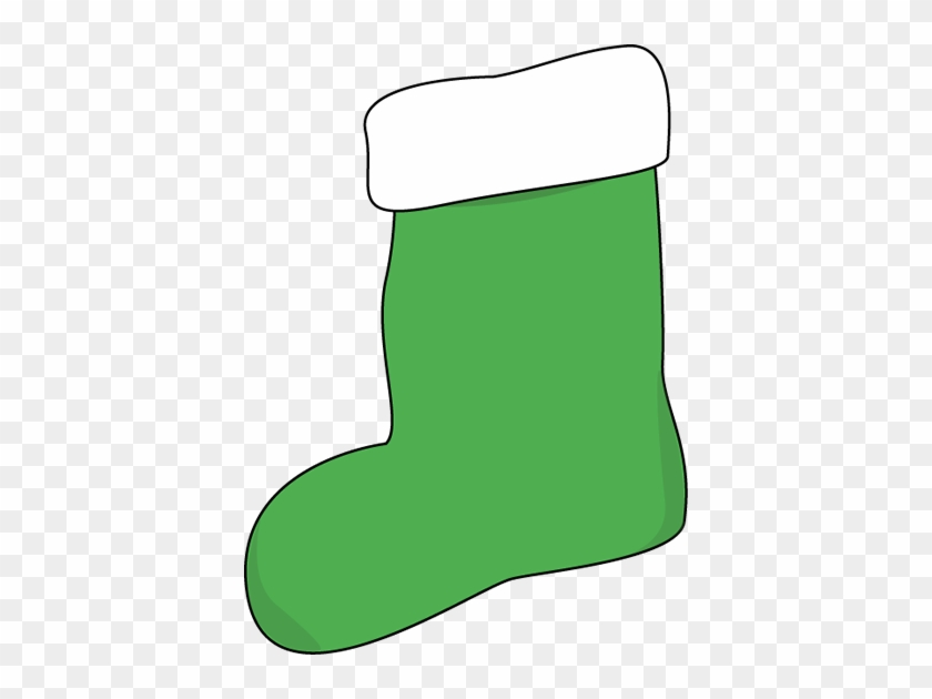 Green Christmas Stocking Clip Art - Green Christmas Stocking Clipart #147957