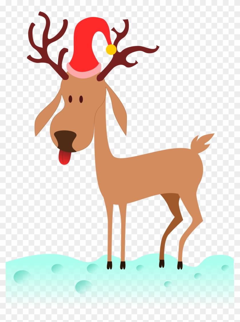 Kablam A Cartoon Reindeer Scalable Vector Graphics - Christmas Reindeer Cartoon Png #148129