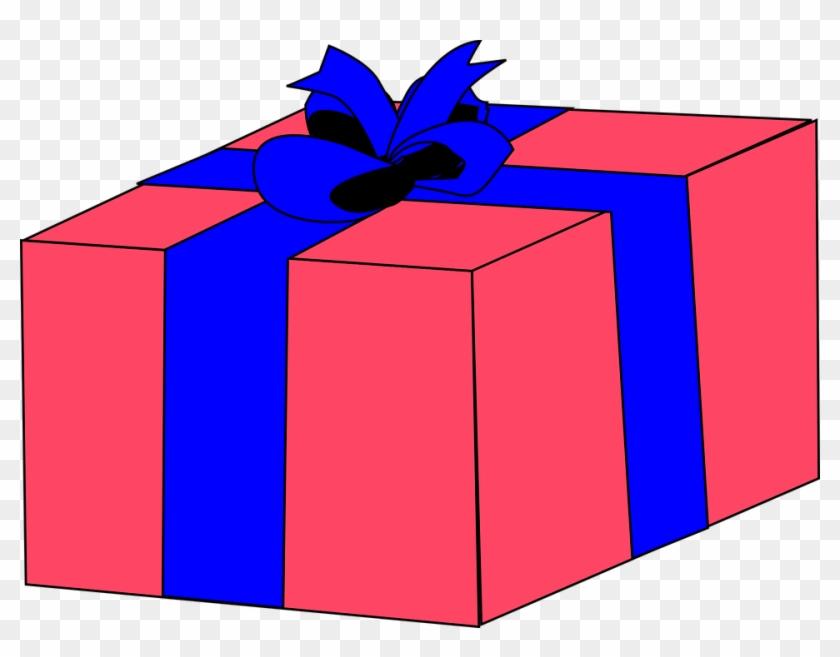 Gift Ribbon Box Pink Present Wrapped Christmas - Gift Box Clip Art #148172