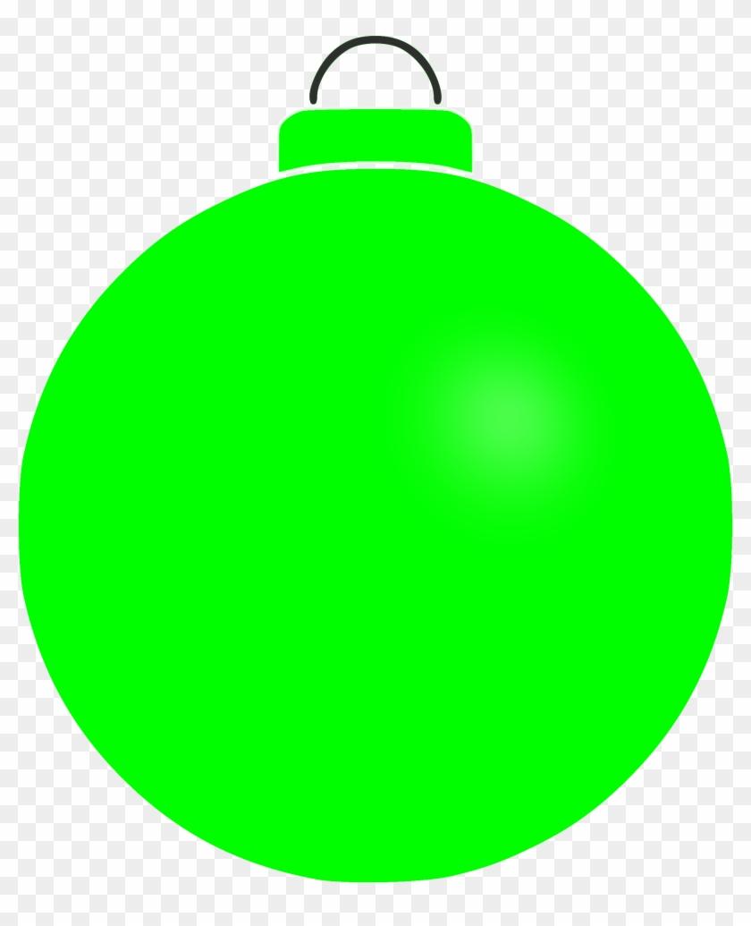 Plain Christmas Bauble Clip Art - Green Christmas Ornament Clipart #148705
