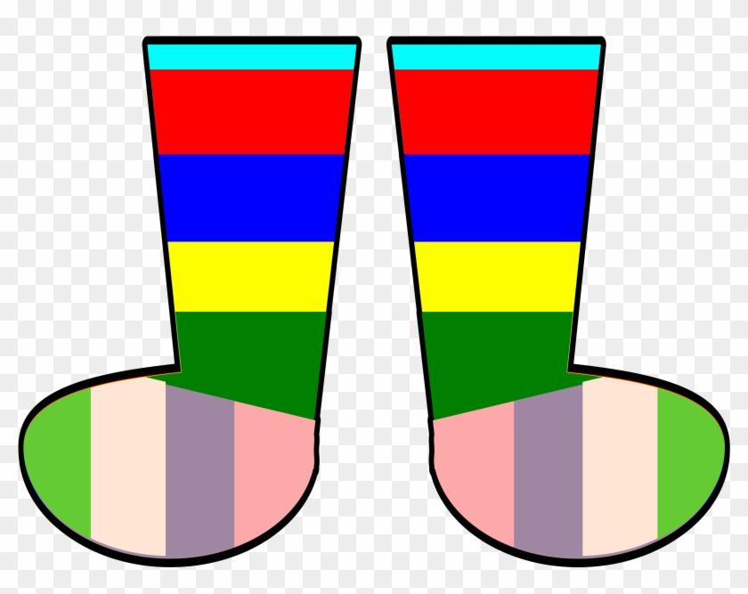 Pin Socks Clipart - Rainbow Socks Clipart #148727