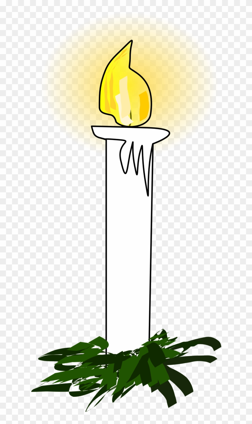 Illustration Of A Christmas Candle - Christmas Candle Clip Art #148732