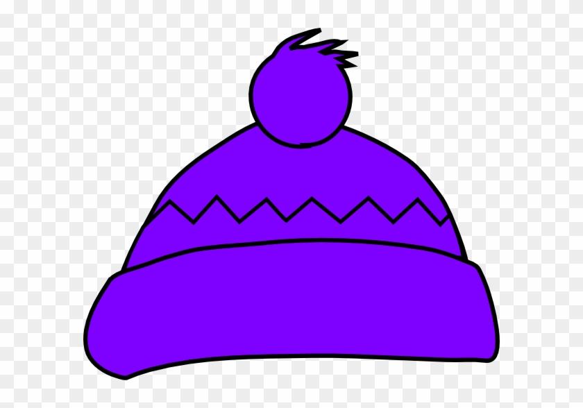Purple Winter Hat Clip Art At Clker - Winter Hat Clip Art #148745