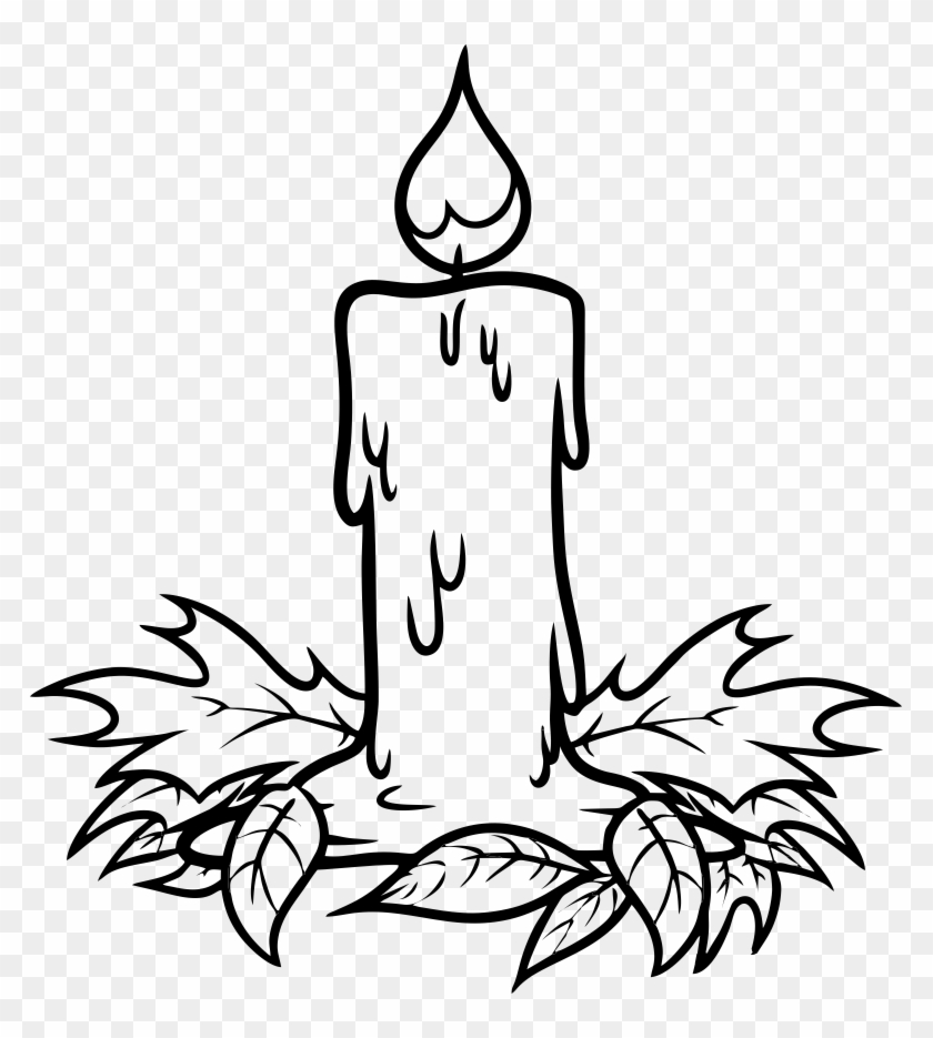 Christmas Candle Drawing - Candle Drawing #148832