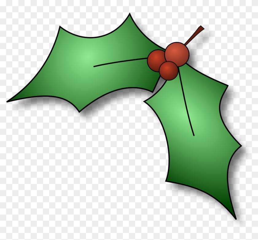 Open - Christmas Holly Clip Art #148850