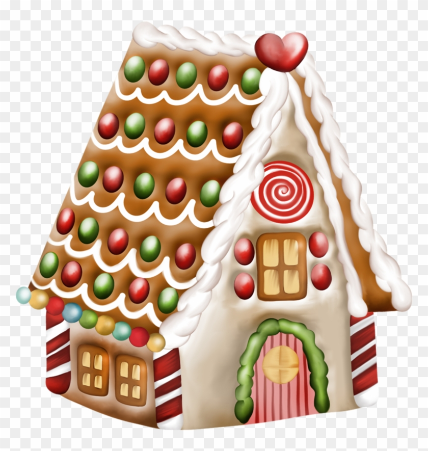 Decorate December Clipart - Gingerbread Man And House Clipart #148870
