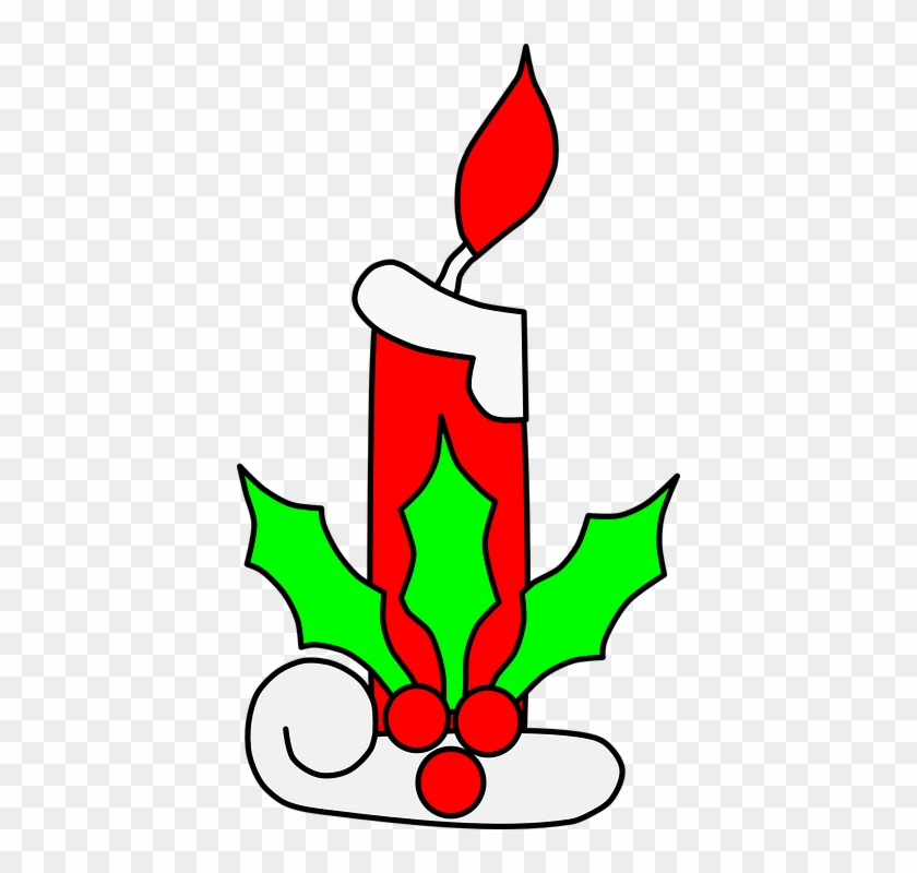 Christmas Candle Light Clip Art - Christmas Candle Clip Art #148981