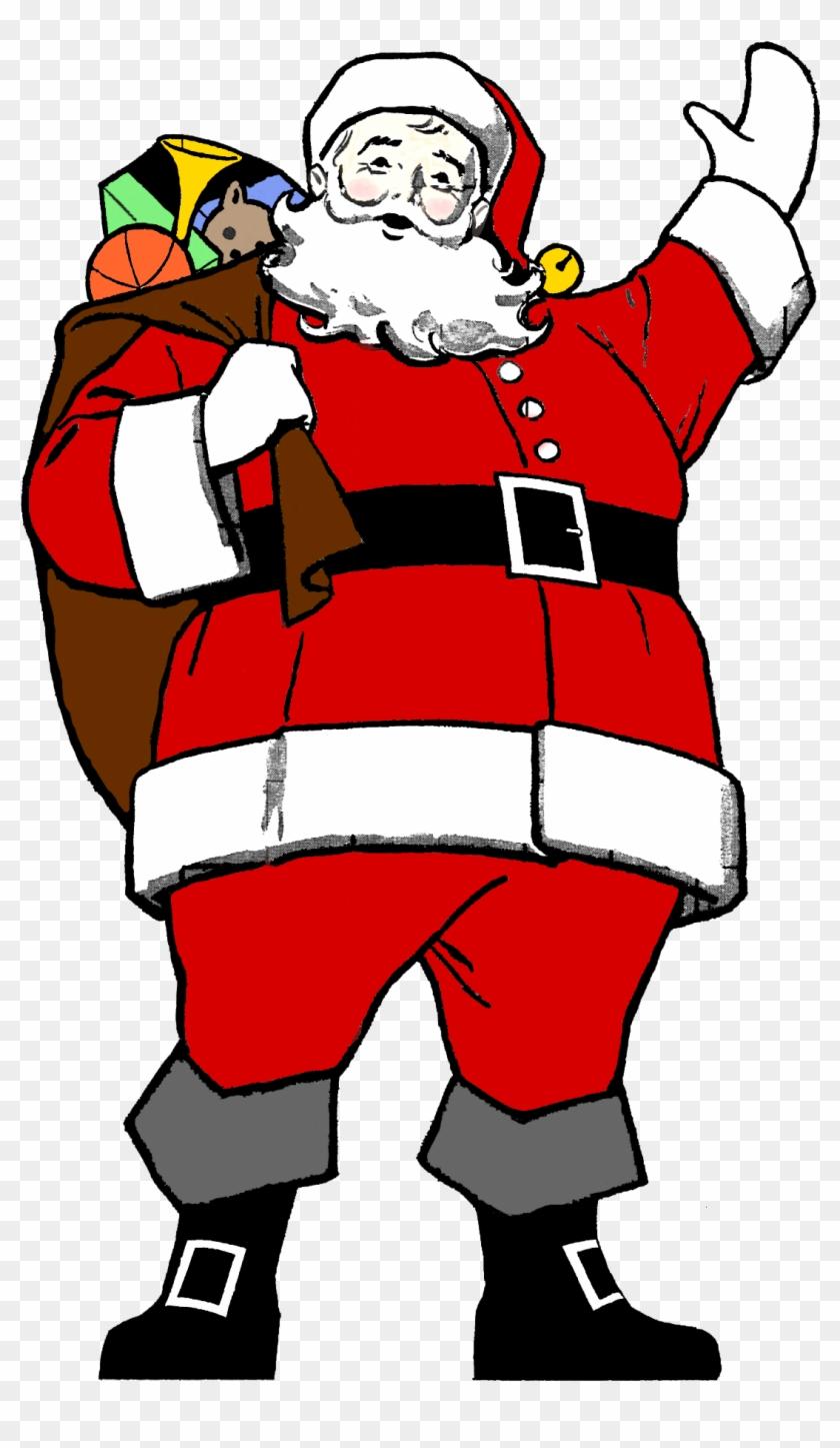 Santa Clipart Black And White - Father Xmas #149043