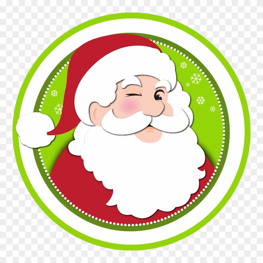 Santa Logo - Santa Cartoon Png #149064
