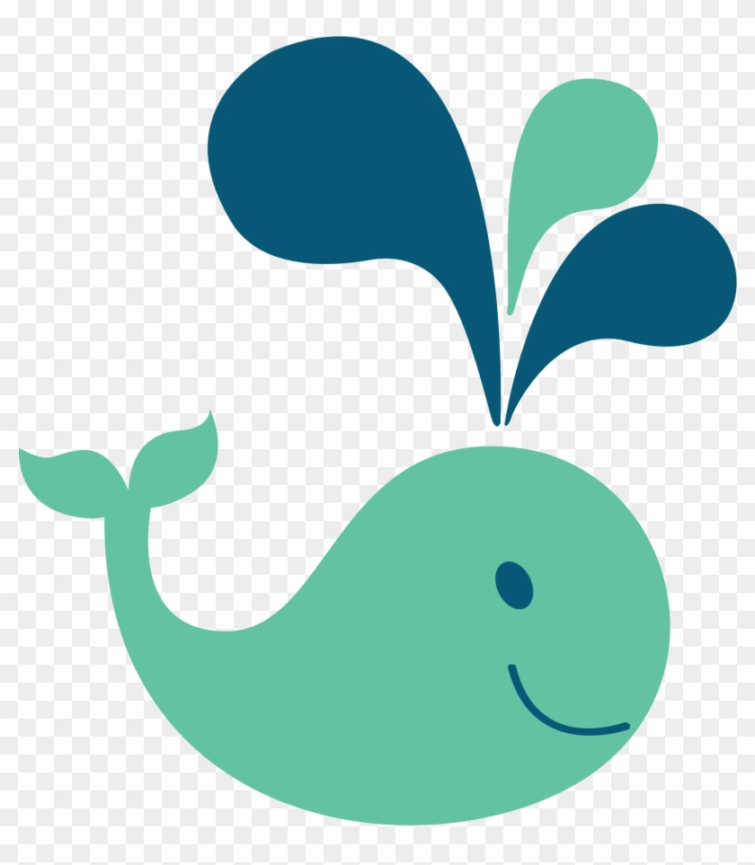 Whale Clipart Organism - Whale With A Polka Dot Tail #149186