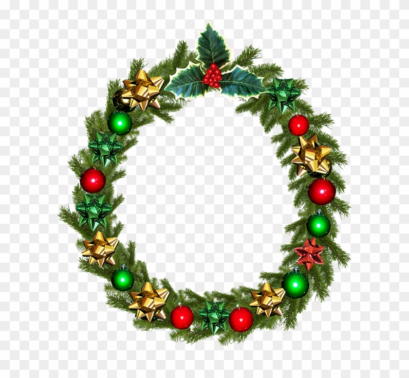 Christmas, Wreath, Holly, Decoration - Kerstkrans Png #149607