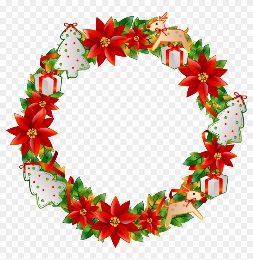 Christmas Wreath Flower - Christmas Circle Flower #149630