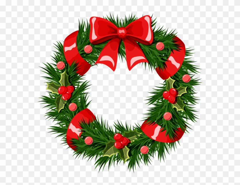 Christmas Clipart Wreath Free - Picnic Table #149676