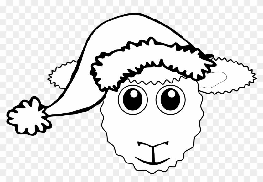 Sheep - Clipart - Black - And - White - Christmas Sheep Coloring ...