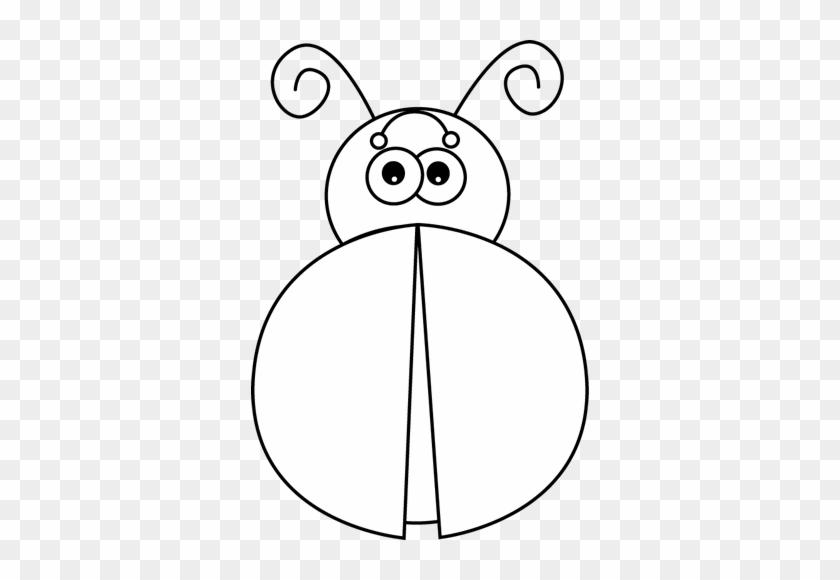 Black And White Ladybug Without Spots - Black And White Ladybug No Spots #149838