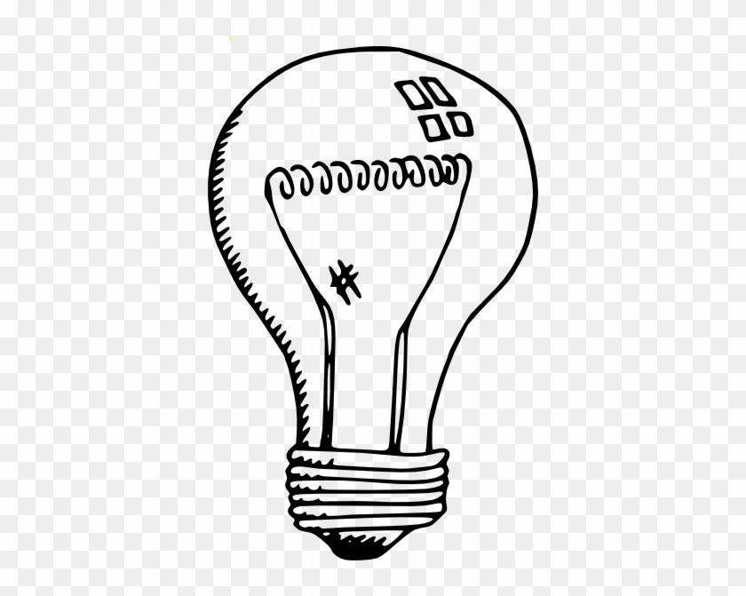 Incandescent Light Bulb Svg Clip Arts 372 X 591 Px - Light Bulb Clip Art #149977