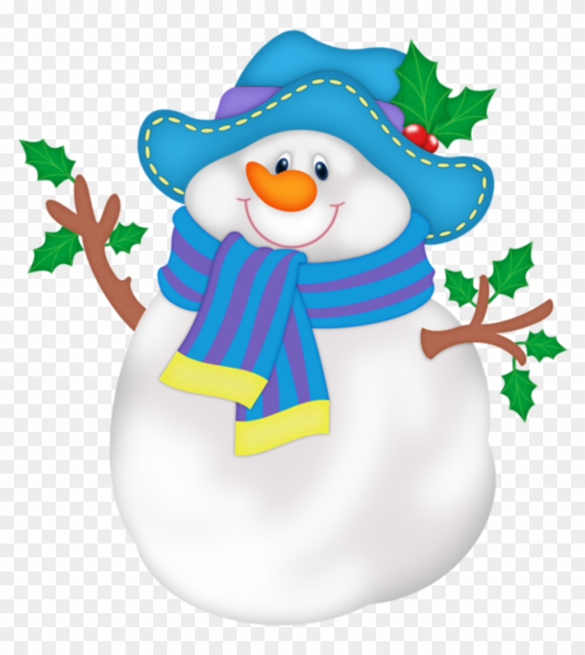 Snowman Png With Blue Hat - Christmas And Winter Clip Art #150019
