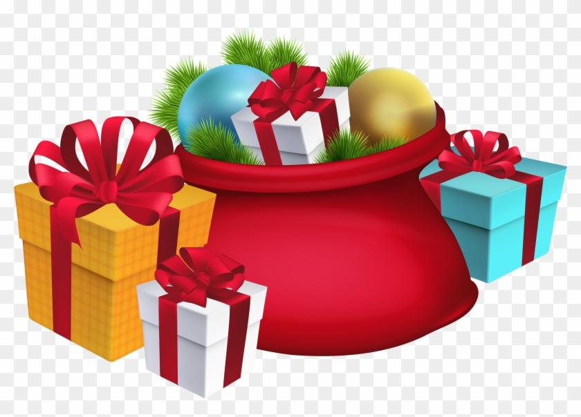 Christmas santa s sack decorations png clipart image christmas