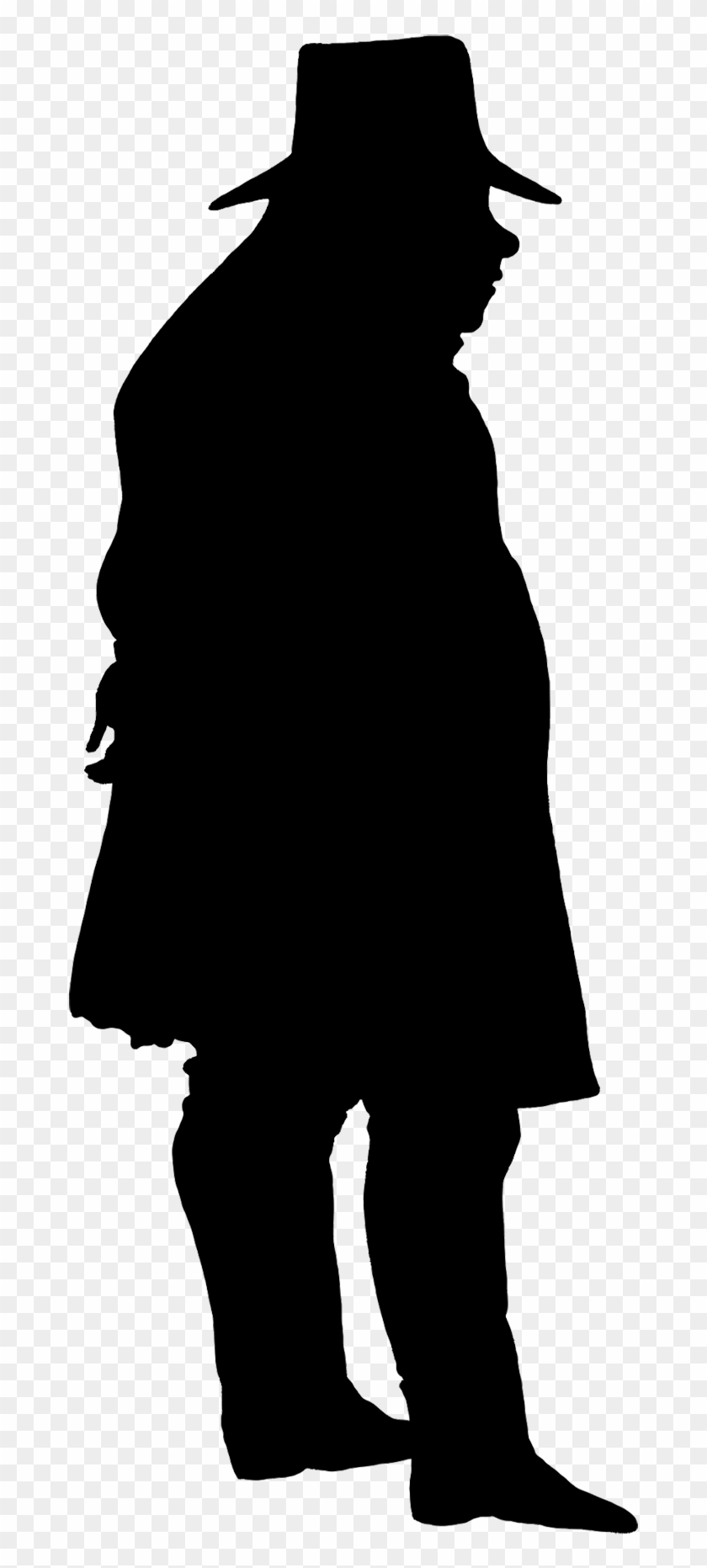 Gentleman Victorian Silhouette Clipart - Man Silhouette Png #150172