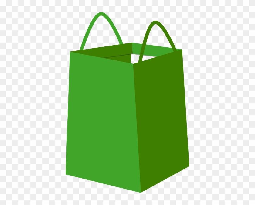 Christmas Gift Bag Clipart - Green Shopping Bag Png #150186