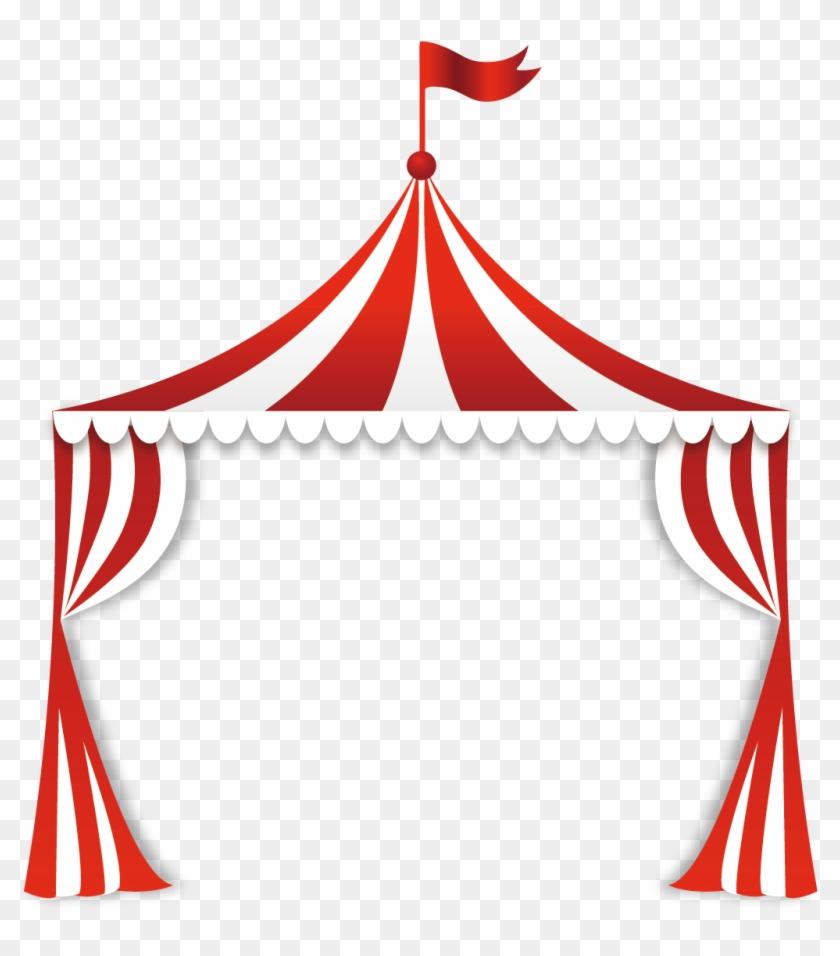Circus Tent Clip Art - Circus Tent Background #150373
