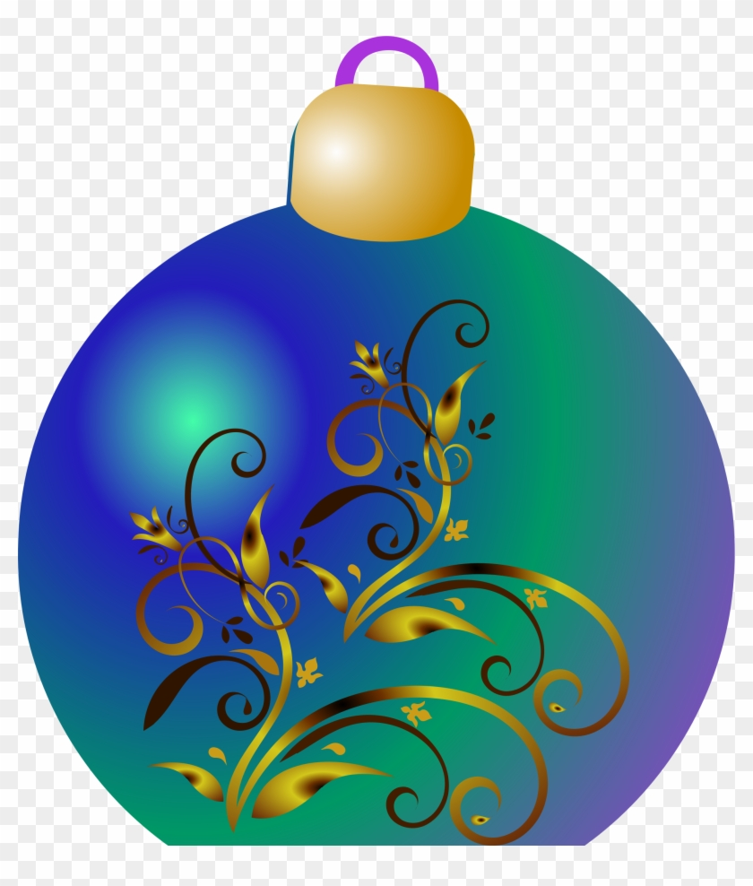 Turquoise Clipart Ornament - Christmas Ornament Clipart Blue #150399