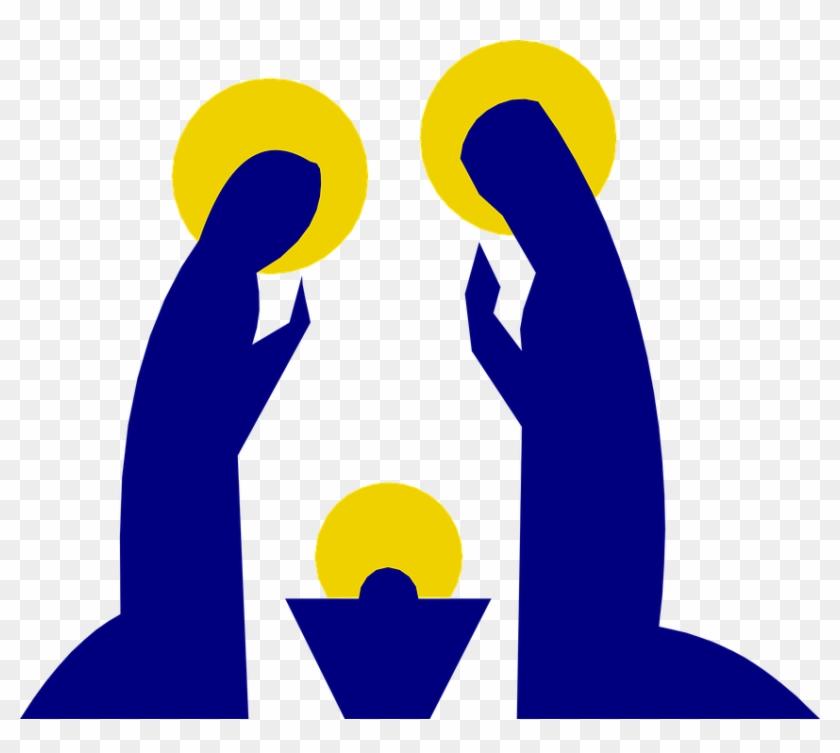 Christian Christmas Family Holy Jesus Joseph Mary - Mary And Jesus ...