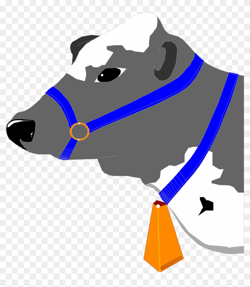 Cow Bell Head Collar Blue Animal Cattle - Cow Collar Bell #150547
