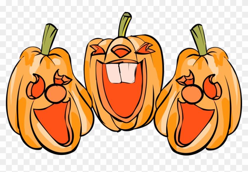 Happy Jack O Lantern Clipart - Laughing Jack O Lantern #150591