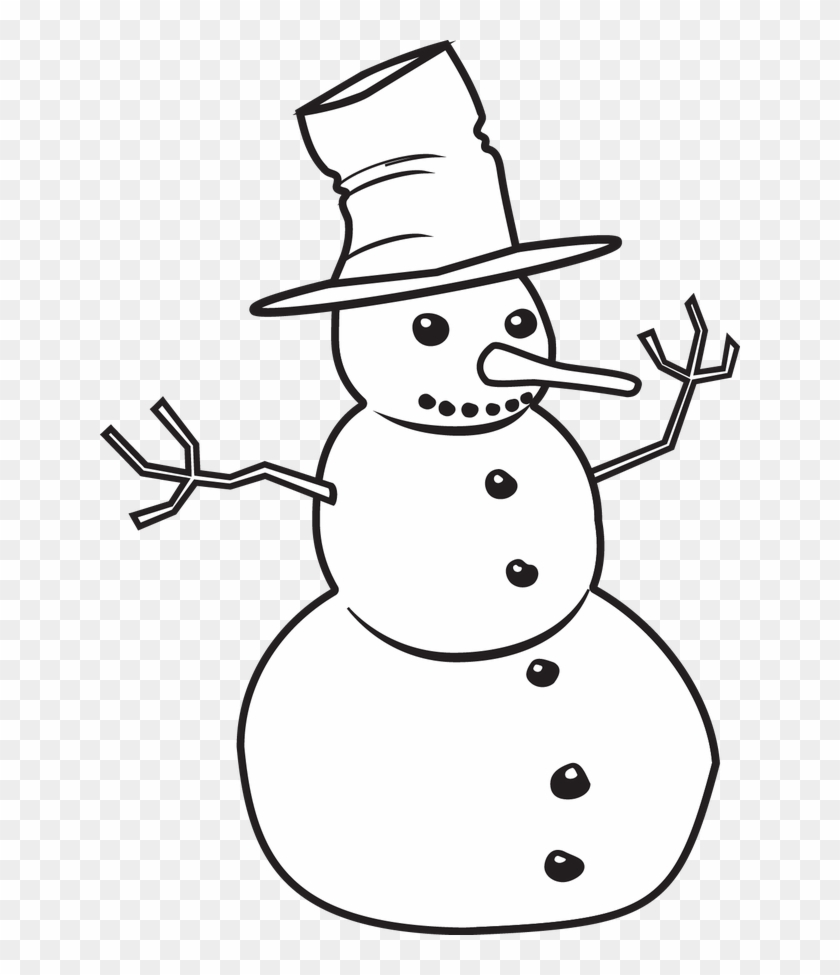 Snowman Clip Art Black White Aak4bw Clipart - Snowman Clip Art Black And White #150647