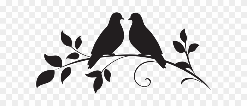 Love Doves Silhouette Png Clip Art - Silhouette Dove Transparent Background #150741