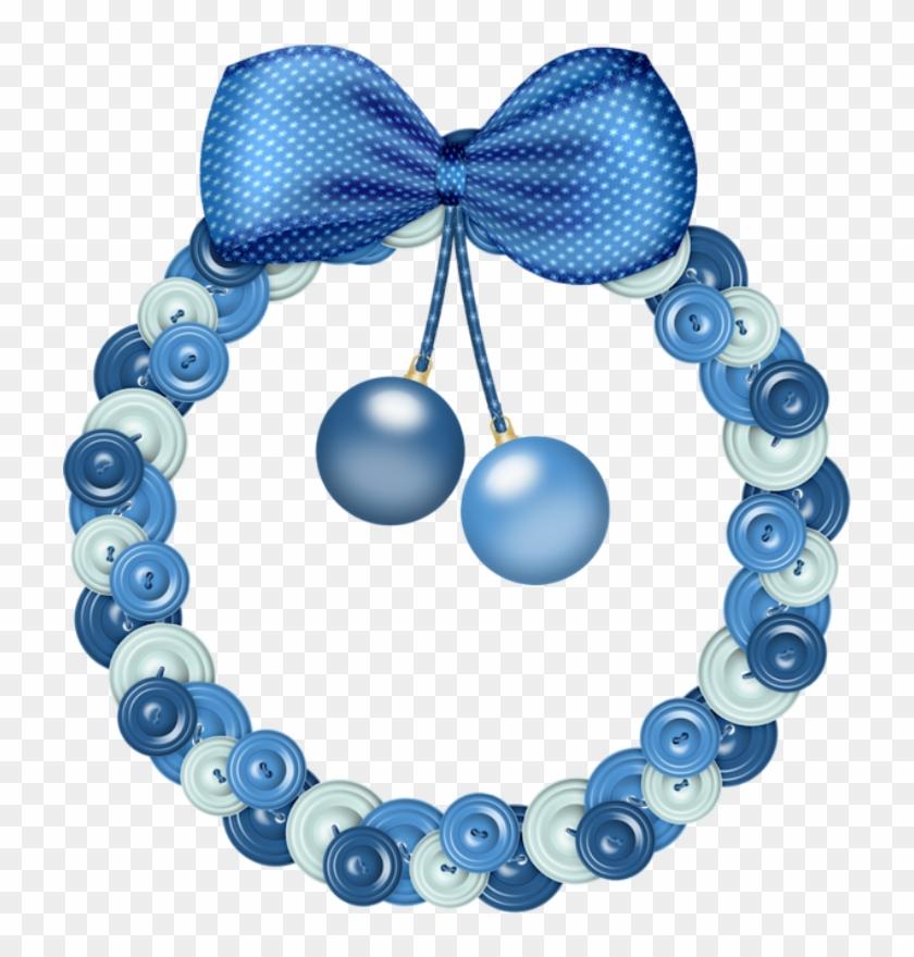 christmas blue wreath clip art blue christmas wreath clip art - Blue Christmas Wreath