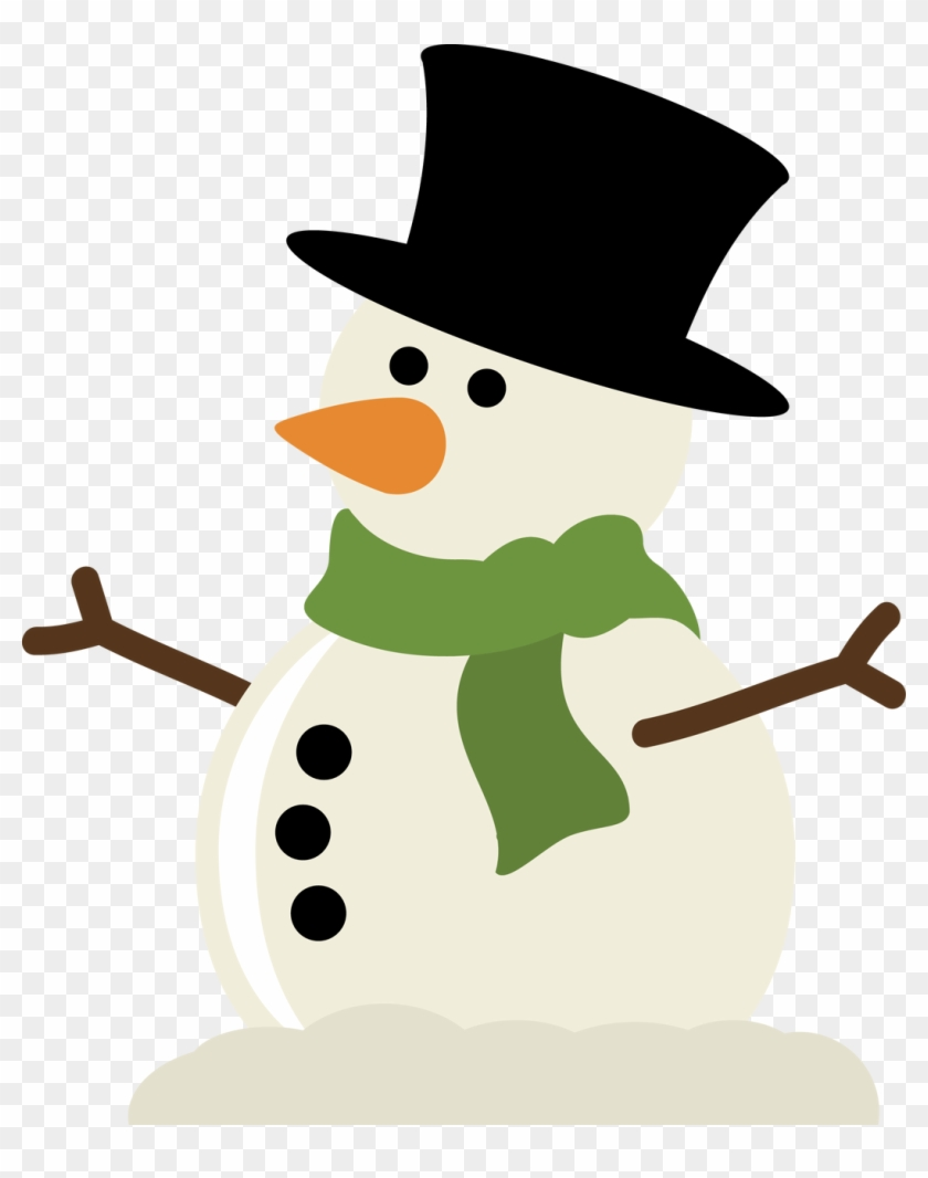Cute Christmas Snowman Clip Art - Snowman Arms Svg #150762