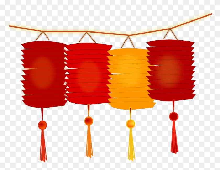 Paper Lantern Clipart Hanging Light - Chinese New Year Png #150971