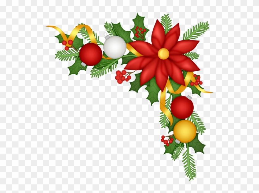 Christmas Border - Christmas Ornament Corner Clipart #151081