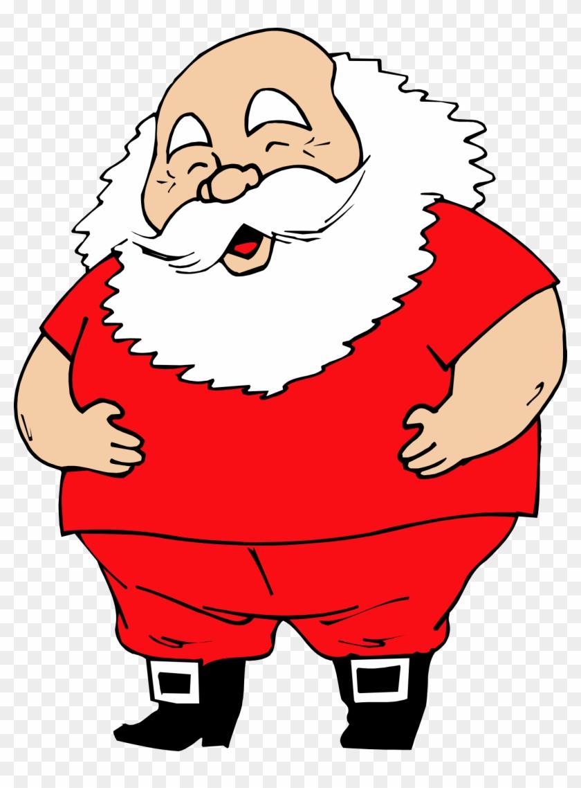 Santa Clipart Xmas - Santa Claus No Hat Clipart #151144