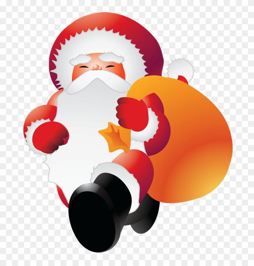 Christmas Clipart, Clip Art, Santa, Illustrations, - Santabig1 Sticker (oval) #151324