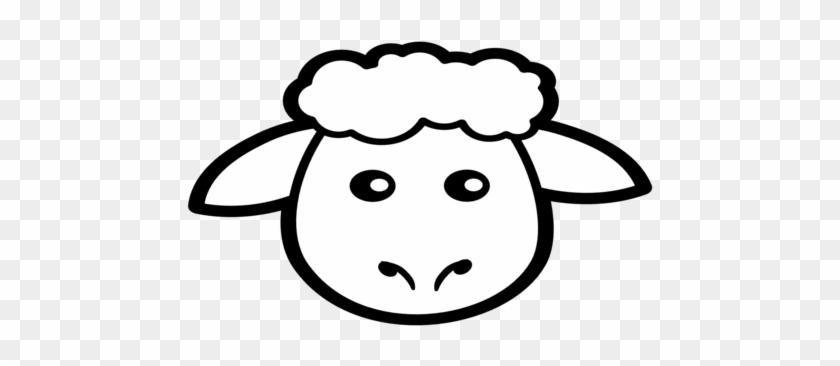 Animals Coloring Medium Size Black Sheep Clip Art Icon - Sheep Face Coloring Page #151369
