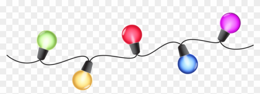 Christmas ~ Christmas Lights Clip Art Images Clipart - Light Bulb Border Transparent #151431