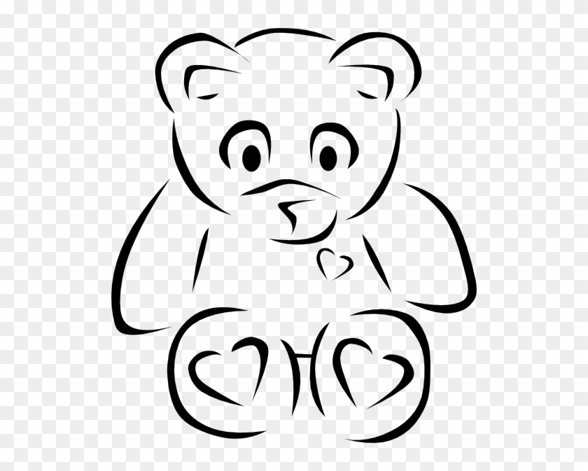 Nice Design Teddy Bear Outline Clip Art At Clker Com - Teddy Bear Clip Art #151523