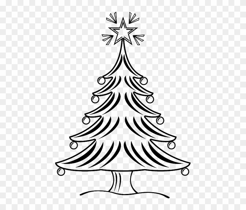 free christmas tree outline clipart black white christmas tree black white