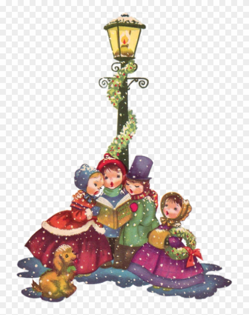 Caroler, Vintage Santas, Vintage Christmas, Merry Christmas, - Christmas Carol Singer Cards #151694