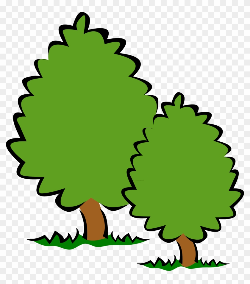 Tree Clipart Transparent Background - Big And Small Trees