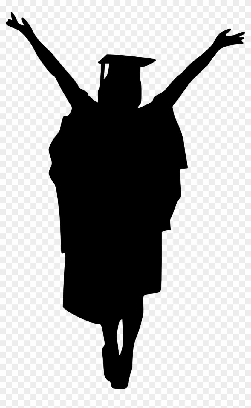 Girl Graduate Silhouette - Graduation Png - Free ...
