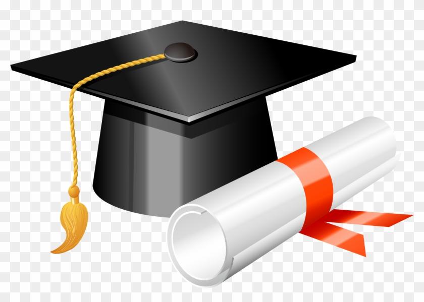 Gorro De Graduacion - Graduation Cap And Diploma Png #153152