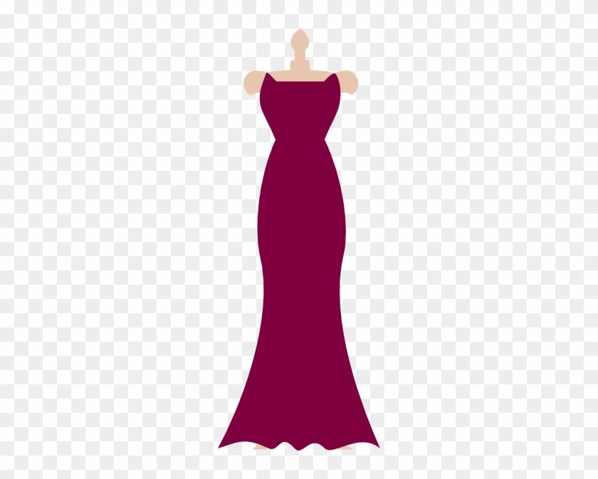 Pink Dress Clipart Strapless Dress - Clip Art Bridesmaid Dress #153237
