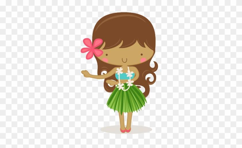 Luau Girl Clipart 02 - Cute Hawaii Girl Clipart #153300